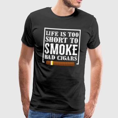 Funny cigar design with a cool saying - Men's Premium T-Shirt