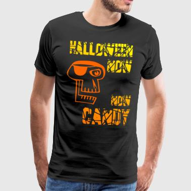 Halloween Nu-Nu Candy gul orange kranie - Herre premium T-shirt