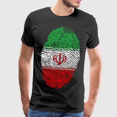 IRAN ISLAM PERSIA PERSIAN FINGERPRINT T-SHIRT - Premium T-skjorte for menn