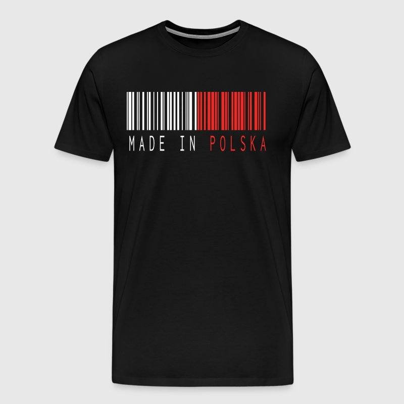 MADE IN POLSKA BARCODE - Men's Premium T-Shirt