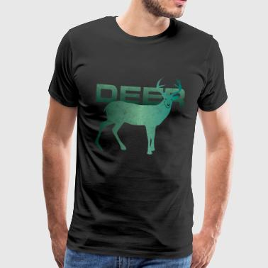 Deer red deer sika deer wapiti gift - Men's Premium T-Shirt