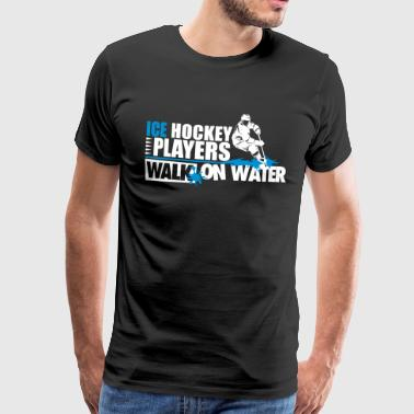 Ice hockey player walk on water - Men's Premium T-Shirt