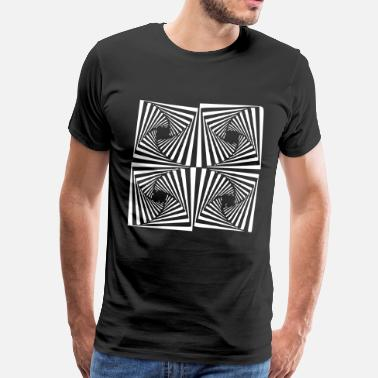 Optical Illusion Hypnosis hypnotic pattern vector T-shirt - Men's Premium T-Shirt