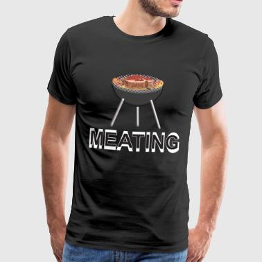 Meating and grilling on the charcoal grill - Men's Premium T-Shirt