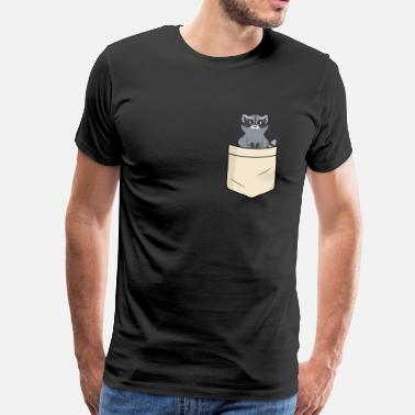 Raccoon Raccoon in shirt pocket - Men's Premium T-Shirt