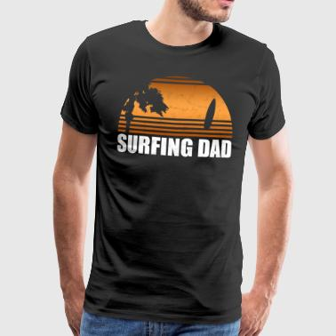 Surfing Dad - Surfer surfer gave havet hav - Premium T-skjorte for menn