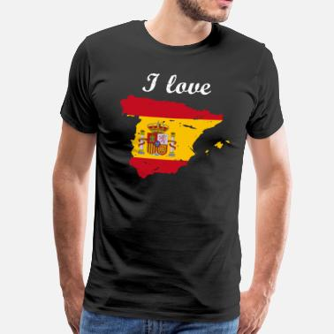I Love Spain Spanien spanien flagge patriot - Männer Premium T-Shirt