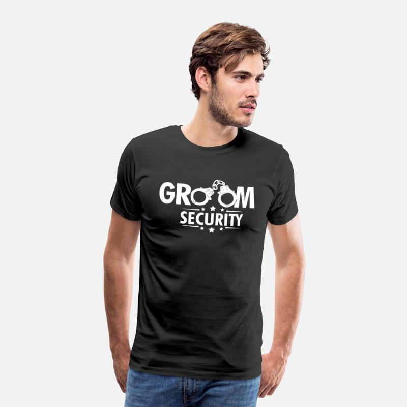 Man T-Shirts - Groom Security - Mannen premium T-shirt zwart