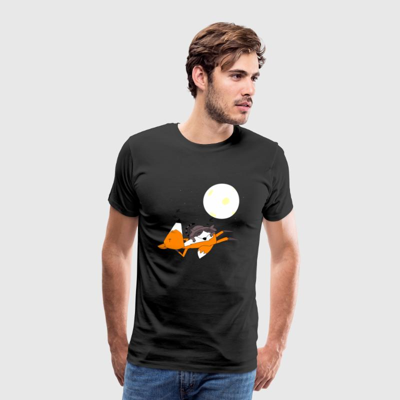 Fox and raccoon sleeping - Men's Premium T-Shirt