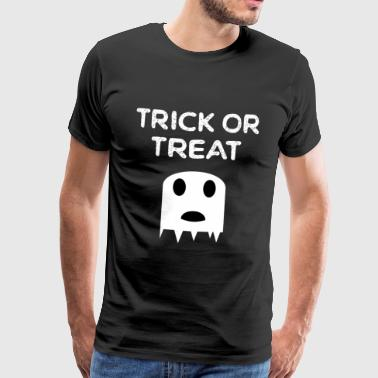 HALLOWEEN GEEST ZOETE OF SOUR GHOST - Mannen Premium T-shirt