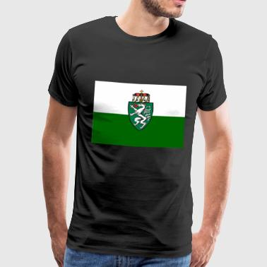 Styria flag with coat of arms - Men's Premium T-Shirt