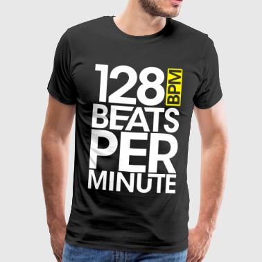 128 Beats Per Minute - Men's Premium T-Shirt