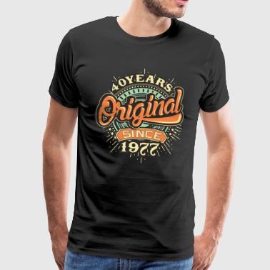 40 Years Original since 1977 - RAHMENLOS Birthday Shirt Design - Männer Premium T-Shirt