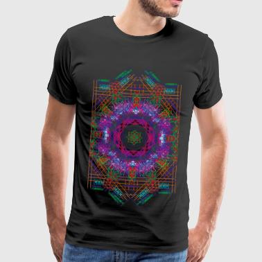 Psychedelic Star Grid - Men's Premium T-Shirt