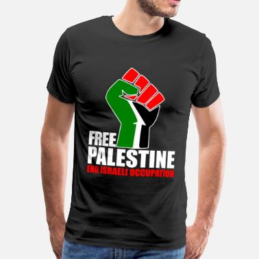 Free Free Palestine end Israeli Occupation - Men's Premium T-Shirt