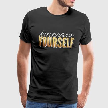 Review / Improve Yourself - Men's Premium T-Shirt