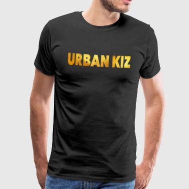 Urban Kiz Gold - Kizomba Dance Shirt - Premium T-skjorte for menn