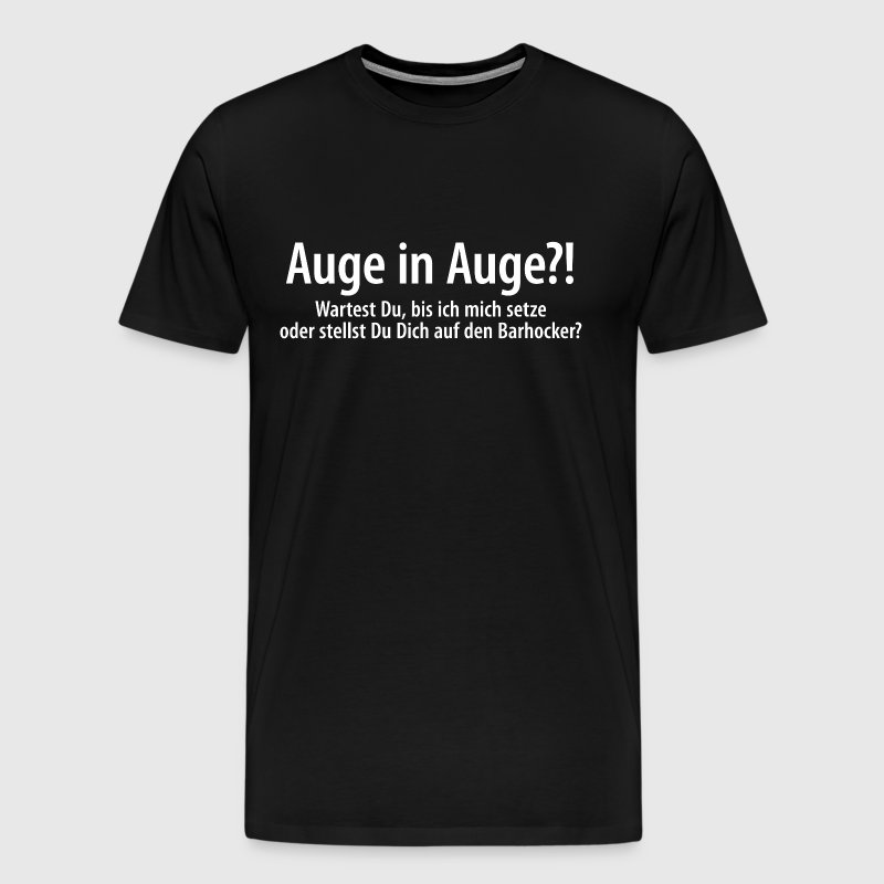 Auge in Auge Dr. Sheldon Cooper The Big Bang Theory - Männer Premium T-Shirt