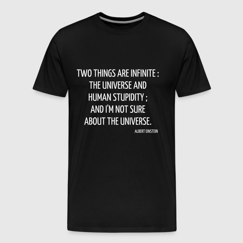 Science - Geek - Math - Physics - School - Quote - Men's Premium T-Shirt