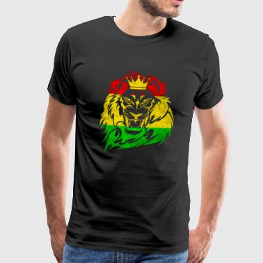 Lion Of Judah - Reggae Music Rastafari Jamaica Dub - Men's Premium T-Shirt