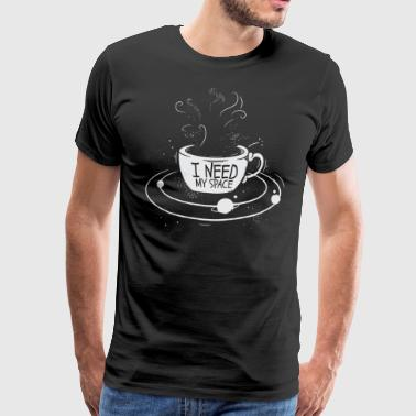Coffee Space Mug T-Shirt Universe - Men's Premium T-Shirt