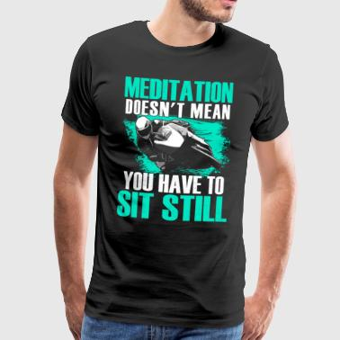 Superbike meditation Motorcycle Superbike - Men's Premium T-Shirt