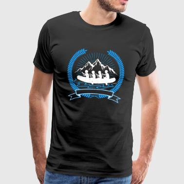Canoe Outdoor RAFTING WILDWATER RIVER GIFT PADDLE NATURE - Men's Premium T-Shirt