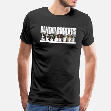 Border Collie Band Of Borders - Snow - White - Mannen Premium T-shirt