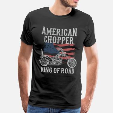 Chopper Motocykle American Chopper - King of Road - Koszulka męska Premium