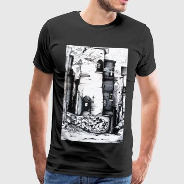 Street Graffiti street art - Men's Premium T-Shirt