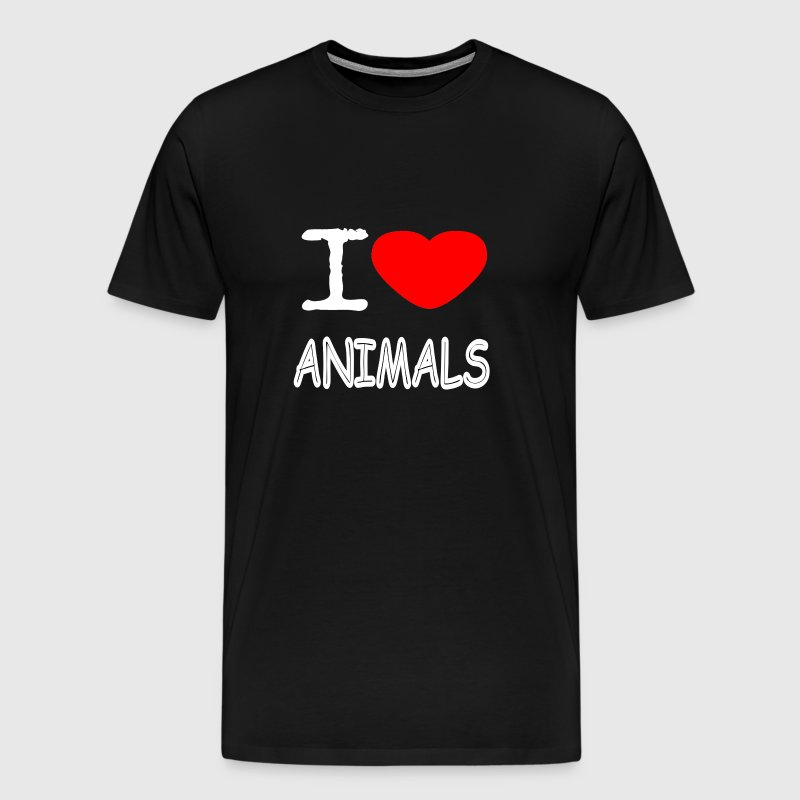 I LOVE ANIMALS - Männer Premium T-Shirt
