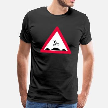 Trail Biking Bike trail crossing - Men's Premium T-Shirt