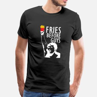 Friese Tekst Girl Power voor Fries - Mannen Premium T-shirt