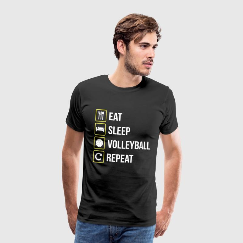 Eat Sleep Volleyball Repeat - Men's Premium T-Shirt