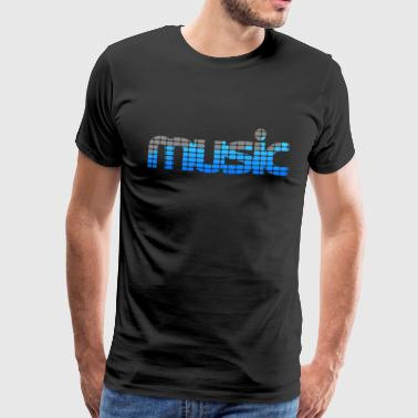 Music EQ (Blue) - Premium-T-shirt herr
