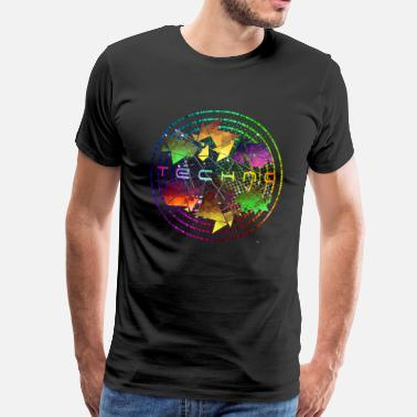 House World Techno Circle Communauté Techno - T-shirt Premium Homme