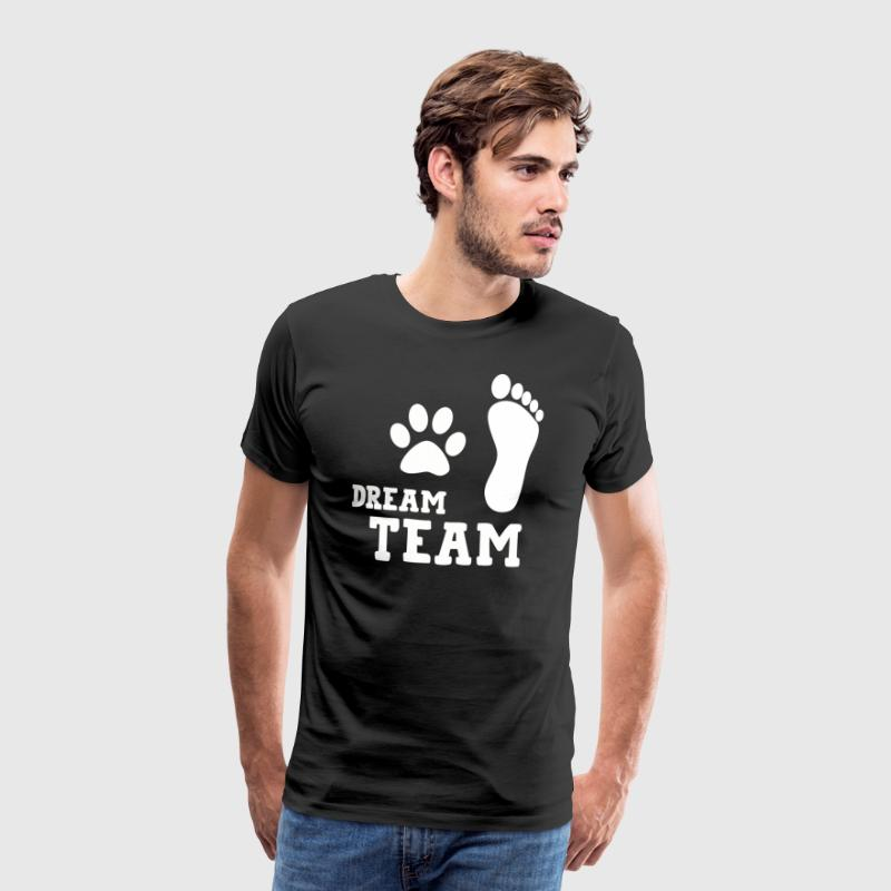 Dream Team Grappige Hond Shirt - Mannen Premium T-shirt