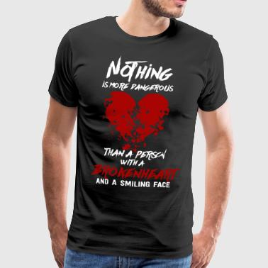 Broken Heart Love Dangerous Smile Face - Mannen Premium T-shirt