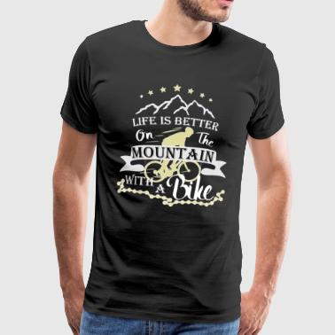 By bike in the mountains - Men's Premium T-Shirt