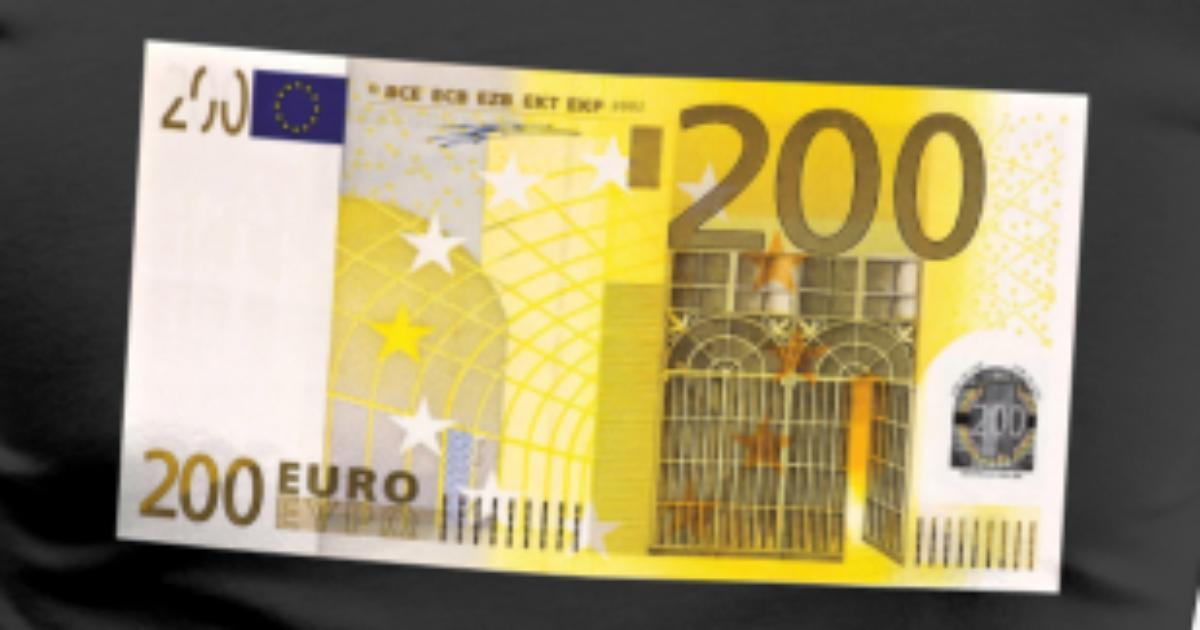 200 Euro Banknote Mens Premium T Shirt