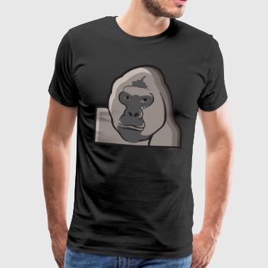 Gorilla monkey face monkey - Men's Premium T-Shirt