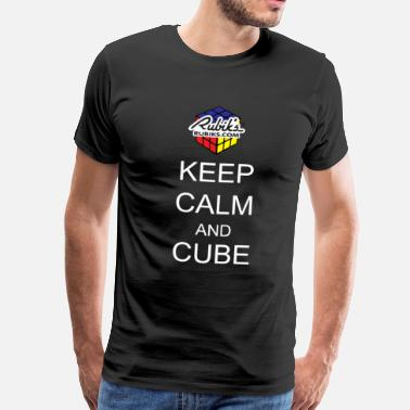 Cube Rubik's Keep Calm - Men's Premium T-Shirt