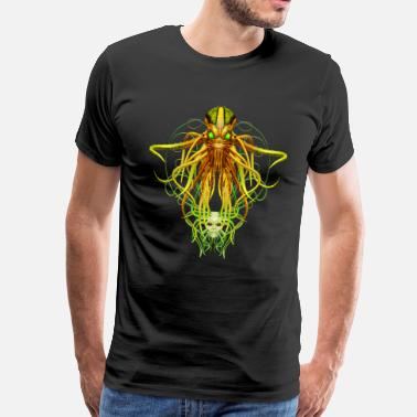 Poppycock And Cheapskate Cthulhu No.4 Men's Premium Steampunk T-Shirt - Men's Premium T-Shirt