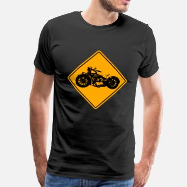 Motorcycle Motorcycle Road Sign - Männer Premium T-Shirt