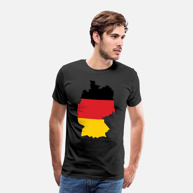 Flag Of Germany T-Shirts - Germany map - Men's Premium T-Shirt black