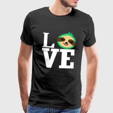 Love love sloth animal love animal-loving animal lover - Men's Premium T-Shirt