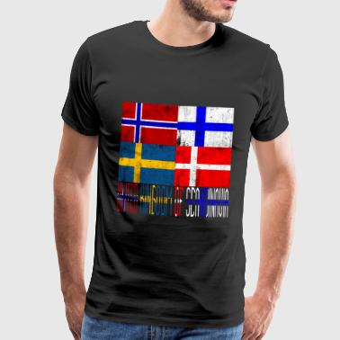 United Kingdom of Scandinavia - Premium-T-shirt herr