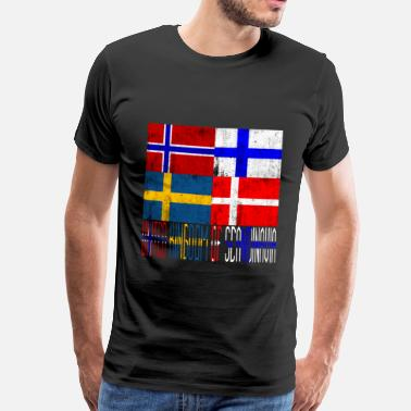 United Kingdom United Kingdom of Scandinavia - Miesten premium t-paita