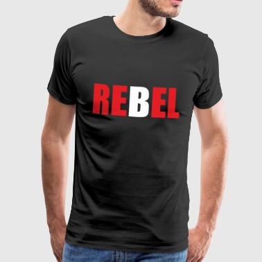 REBEL - Premium T-skjorte for menn