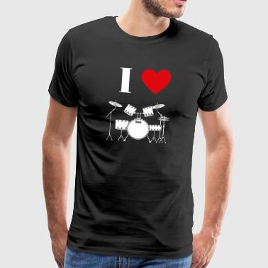 I love drums 2 - Men's Premium T-Shirt